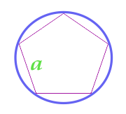 Area of a circle described near a regular polygon